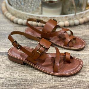 🆕 Patricia Nash Fidella Leather Flat Sandals